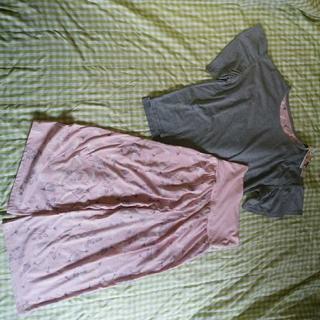 ベルメゾン(ベルメゾン)の025 ベルメゾン mini labo ミニラボ 腹巻付き綿混半袖パジャマ LL(パジャマ)