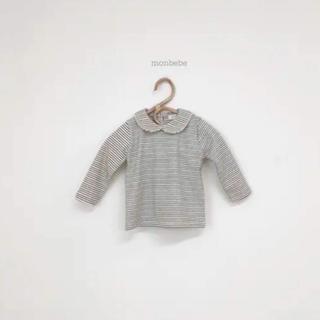 【新品】韓国子供服 monbebe  ボーダートップス 80サイズ