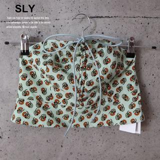スライ(SLY)の大特価!SLY 新品未使用 ビスチェ MINT(ベアトップ/チューブトップ)