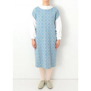 mina perhonen - ミナペルホネン  タンバリン ドレス ライトブルー 36【美品】