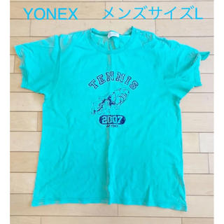 ヨネックス(YONEX)のYONEX テニス Tシャツ メンズサイズL グリーン(ウェア)