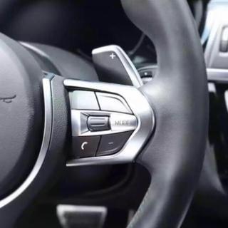 ビーエムダブリュー(BMW)のBMW ステアリングホイールカバートリム クローム Mスポーツ用 新品未使用(車種別パーツ)