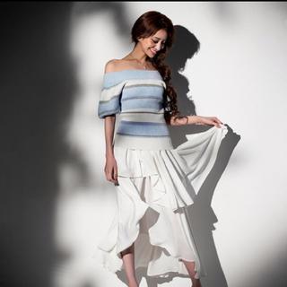 エミリアウィズ(EmiriaWiz)のエミリアウィズ☆2way ラメボーダーニットトップス ブルー(ニット/セーター)