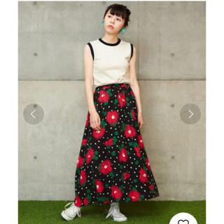 ドットアンドストライプスチャイルドウーマン(Dot&Stripes CHILDWOMAN)のCHILD WOMAN 花柄マキシスカート(ロングスカート)