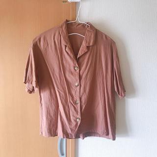 GU - gu リネン シャツ オープンカラーシャツ