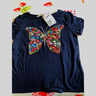 H&M - 新品h&mTシャツ(スパンコールバタフライ)