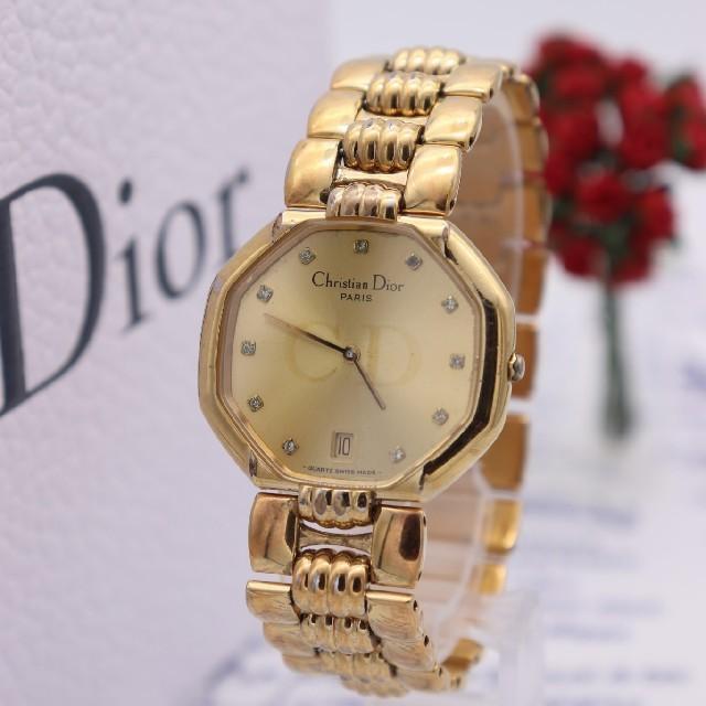 Christian Dior(クリスチャンディオール)の正規品【新品電池】ChristianDior/45.154 オクタゴン 12P メンズの時計(腕時計(アナログ))の商品写真