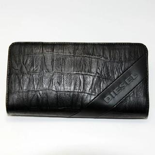 ディーゼル(DIESEL)のDIESEL ディーゼル 長財布 クロコ型押し レザー 本革(長財布)