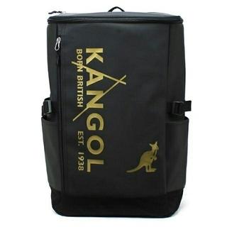 カンゴール(KANGOL)の新品送料無料KANGOL(カンゴール)スクエアリュック ブラック/ゴールド30L(バッグパック/リュック)