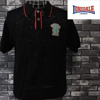 ロンズデール(LONSDALE)のロンズデール ニットアミ 襟付きシャツ 半袖(ニット/セーター)