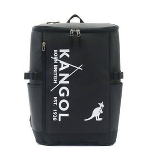 カンゴール(KANGOL)の新品送料無料KANGOL(カンゴール)スクエアリュック ブラック/ホワイト23L(バッグパック/リュック)
