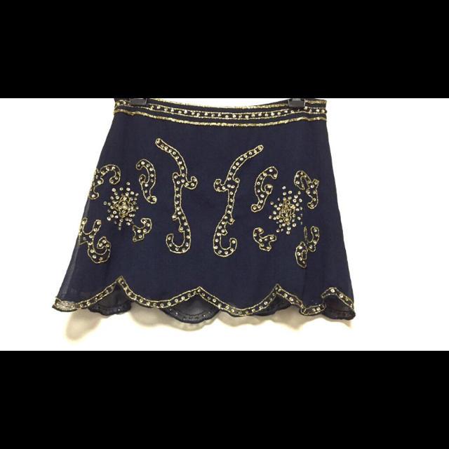 MERCURYDUO(マーキュリーデュオ)の休業‼️豪華✨ビジューシフォンスカート レディースのスカート(ミニスカート)の商品写真