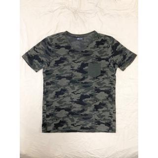 ビームス(BEAMS)のBEAMS カモフラ柄パイルVネックTシャツ Mサイズ ビームス(Tシャツ/カットソー(半袖/袖なし))