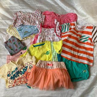 ベビーギャップ(babyGAP)の女の子 80cm  夏服まとめ売り(Tシャツ)