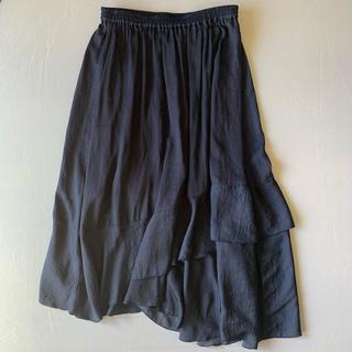 マーキュリーデュオ(MERCURYDUO)のネイビーのスカート(ロングスカート)
