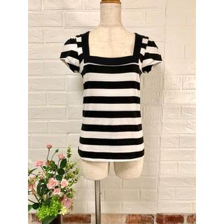 ローラアシュレイ(LAURA ASHLEY)の匿送込 ローラアシュレイ ボーダーTシャツ UK10 ♪(Tシャツ(半袖/袖なし))
