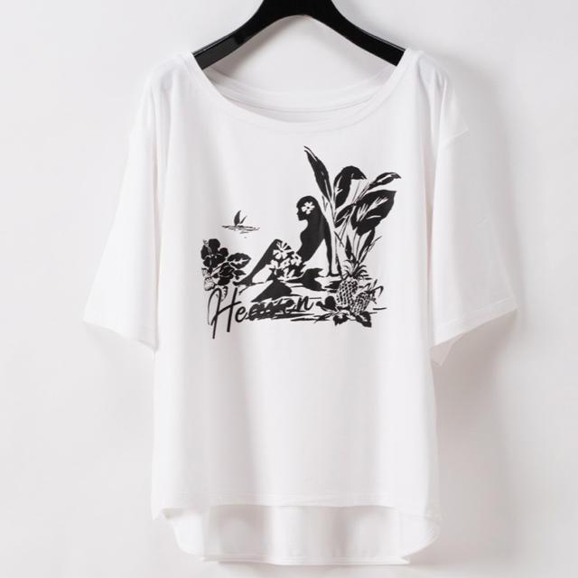 GRACE CONTINENTAL(グレースコンチネンタル)のグレースコンチネンタル プリントレーヨンTシャツ レディースのトップス(Tシャツ(半袖/袖なし))の商品写真