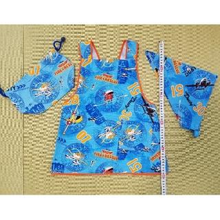 ディズニー(Disney)のプレーンズ 男の子 エプロン、三角巾、巾着袋 給食セット ディズニー 男の子(ファッション雑貨)