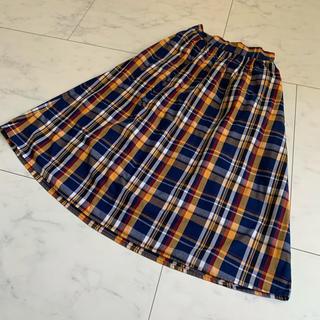 ジーユー(GU)のGU キッズ チェックスカート(スカート)
