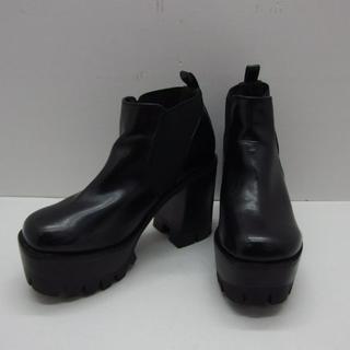 EMODA - ♯0661・EMODA バルキーサイドゴアブーツ ブラック Lサイズ