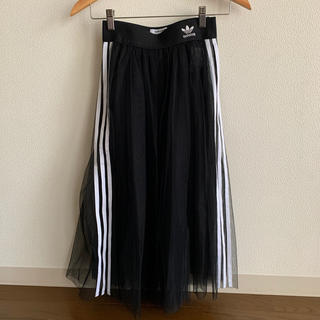 アディダス(adidas)のadidas アディダス オリジナルス スカート M チュール 黒 (ロングスカート)