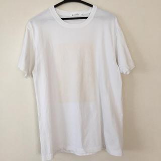 ティーケー(TK)のTHE SHOP TK 半袖Tシャツ 白色 数字ロゴ  メンズ  サイズ L(Tシャツ/カットソー(半袖/袖なし))