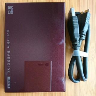 アイオーデータ(IODATA)のI-O DATA ポータブルHDD 500GB(HDPC-UT500BR)(PC周辺機器)