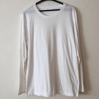 ティーケー(TK)のTHE SHOP TK 長袖Tシャツ 白色  メンズ  サイズ L(Tシャツ/カットソー(半袖/袖なし))