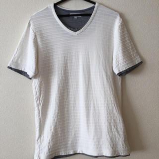 ティーケー(TK)のTHE SHOP TK 半袖Tシャツ 白色  メンズ  サイズ L(Tシャツ/カットソー(半袖/袖なし))