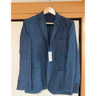 ムジルシリョウヒン(MUJI (無印良品))の無印良品 フレンチリネン  ジャケット ネイビー M(テーラードジャケット)