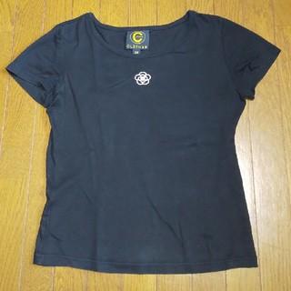 クレイサス(CLATHAS)のクレイサス Tシャツ 38 M 黒 レディース カメリア(Tシャツ(半袖/袖なし))