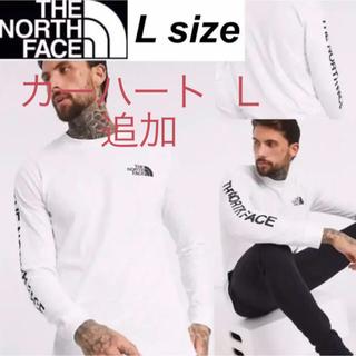 ザノースフェイス(THE NORTH FACE)のノースフェイス 袖ロゴ ロンT 長袖 Tシャツ ホワイト ロングスリーブ L(Tシャツ/カットソー(七分/長袖))