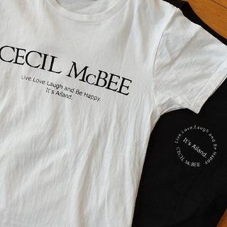 CECIL McBEE - セシル モノトーン Tシャツセット