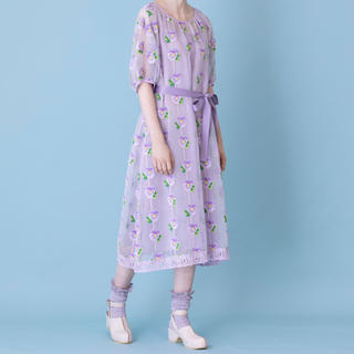 JaneMarple - ジェーンマープル 今期パンジージャガード トラペーズドレス タグ付新品未使用