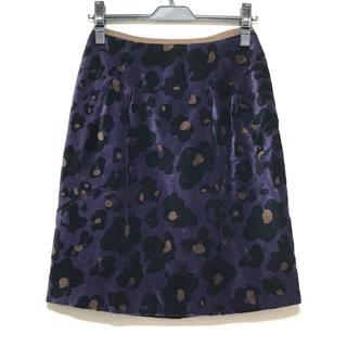 ローラアシュレイ(LAURA ASHLEY)のローラアシュレイ スカート サイズ1 S 豹柄(その他)