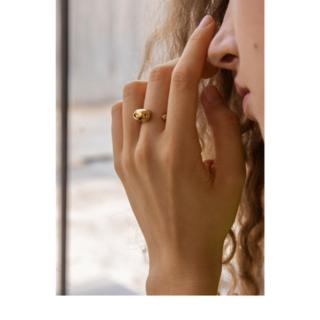 エムエムシックス(MM6)の●インポーアクセサリー ボリュームリング ゴールド(リング(指輪))