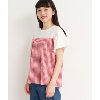 パーリッシィ(PAR ICI)の2019SS PAR ICI WEB別注 ギンガム切り替えギャザーカットソー(Tシャツ(半袖/袖なし))