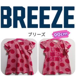 ブリーズ(BREEZE)のBREEZE ドット柄Tシャツ チュニック(Tシャツ/カットソー)