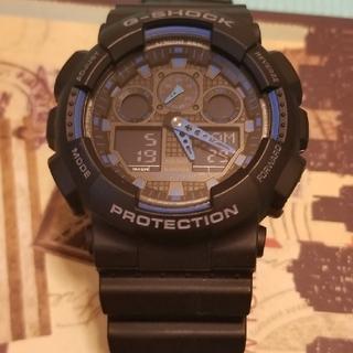 ジーショック(G-SHOCK)のSHOCK ジーショックGA-100-1A2カシオ(腕時計(デジタル))