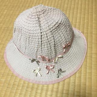 トッカ(TOCCA)のトッカ  帽子 ハット リボン ピンク 50センチ(帽子)
