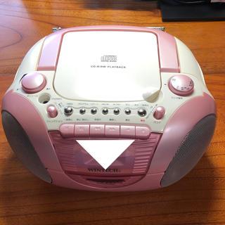 wintech  ピンク CDラジカセ(DVDプレーヤー)
