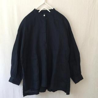 ムジルシリョウヒン(MUJI (無印良品))の無印良品 リネンバンドカラープルオーバーシャツ(シャツ/ブラウス(長袖/七分))