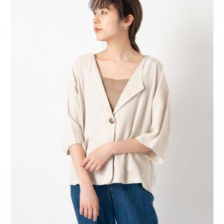 カスタネ(Kastane)のkastane♡リネン七分袖シャツジャケット(テーラードジャケット)