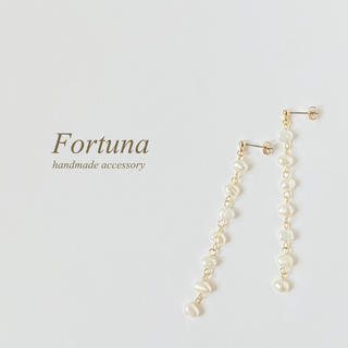FW pearl sway (ホワイト)(ピアス)