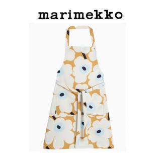 マリメッコ(marimekko)のmarimekko【大人気】Unikko ウニッコ エプロン ベージュ(日用品/生活雑貨)