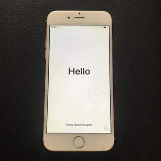 アップル(Apple)のジャンク iPhone6 64GB ゴールド docomo(スマートフォン本体)