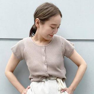 カスタネ(Kastane)のワッフルボタンチビT(Tシャツ(半袖/袖なし))
