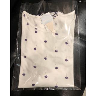 ジェラートピケ(gelato pique)のお値下げ❣️新品♡ジェラートピケ♡チェリー柄 半袖Tシャツ(ルームウェア)