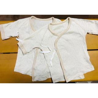 ムジルシリョウヒン(MUJI (無印良品))の新生児用の短肌着 2枚セット(肌着/下着)