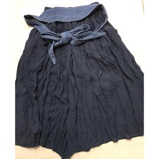 SCOT CLUB - スコットクラブ系 デニムベルト付きスカート